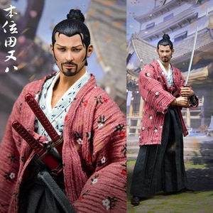 For Collection 1/6 Scale Full Set Japanese Samurai The Position of Tian Ba Lonely Ronin Action Figure Model for Fan Holiday Gift