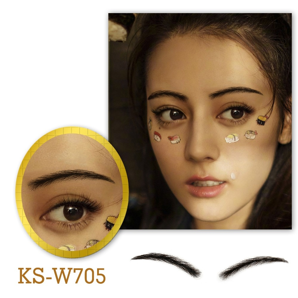 salonchat hand tied false lace eyebrows 100% human hair eyebrows human hair invisible handmade fake eyebrows for women man Neitsi Fake Eyebrow For Women Makeup Realistic Wave Style Lace Human Hair Fake Eyebrows Artificial Weaving Eyebrow KS-W705