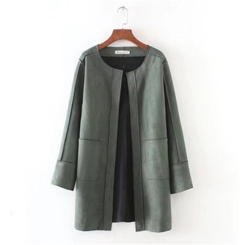 Nuevo tamaño grande cuadros abrigo de lana las mujeres abrigo de sección larga de otoño e invierno nuevo tamaño grande hembra larga ciervos gamuza chaqueta D857