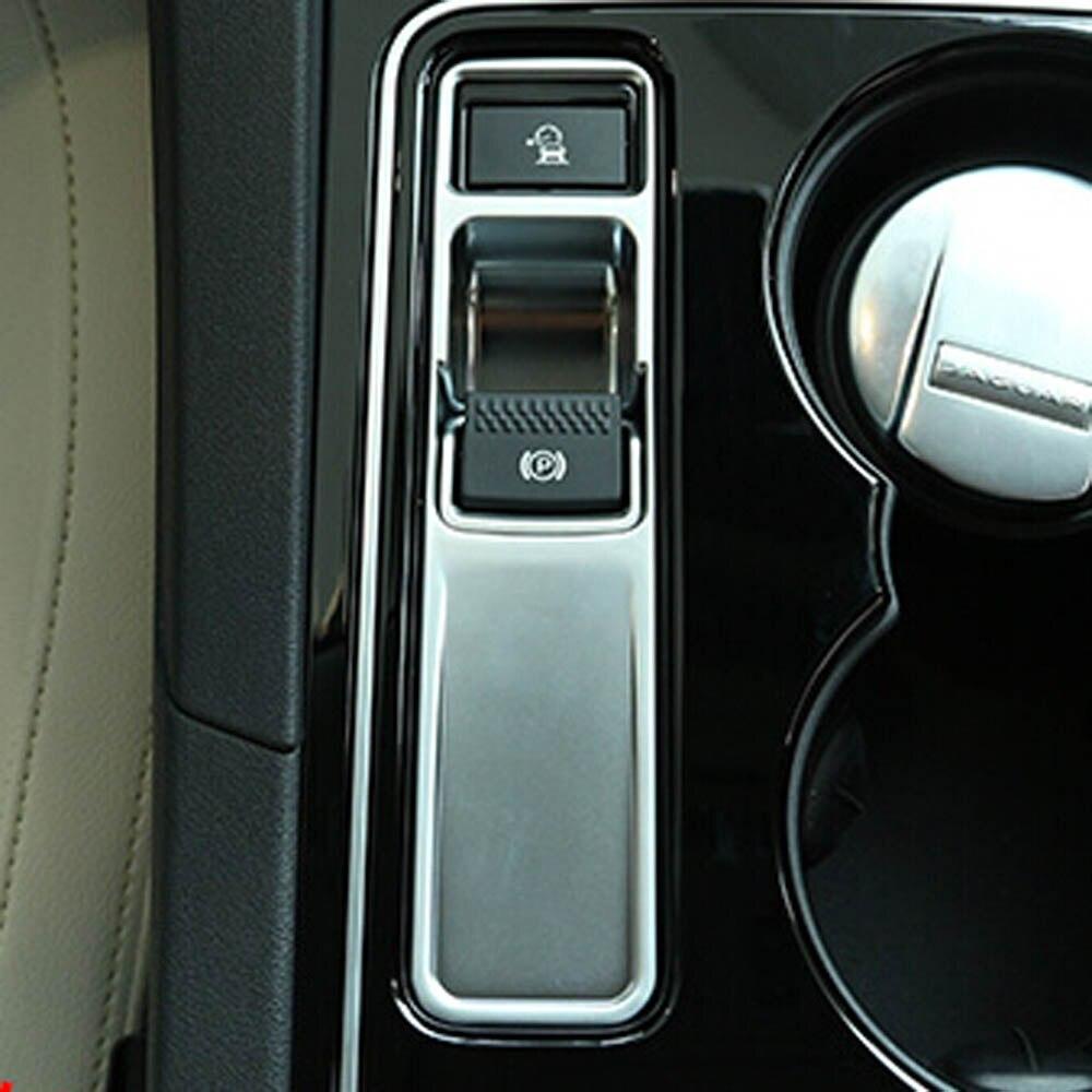 Consola p, freno de estacionamiento, botón electrónico de freno de mano, pegatina de cubierta embellecedora para jaguar XF XE f pace f-pace, accesorios interiores