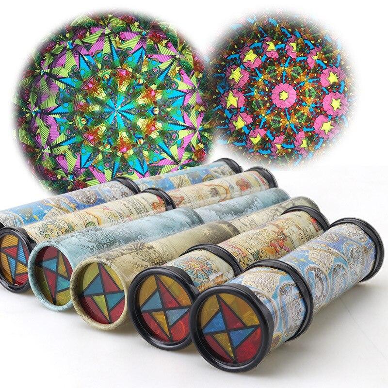 Caleidoscopio de rotación de 30 CM, juguetes coloridos cambiables de magia escalable, juguetes educativos para edades tempranas, regalos para niños