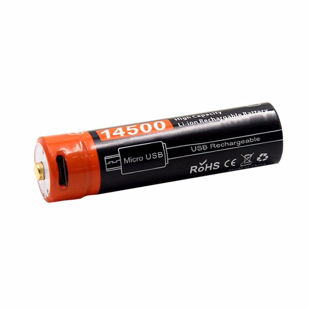 Doublepow 14500 3,7 V 750MAH литий-ионная аккумуляторная батарея USB DC-Зарядка батарея портативный размер