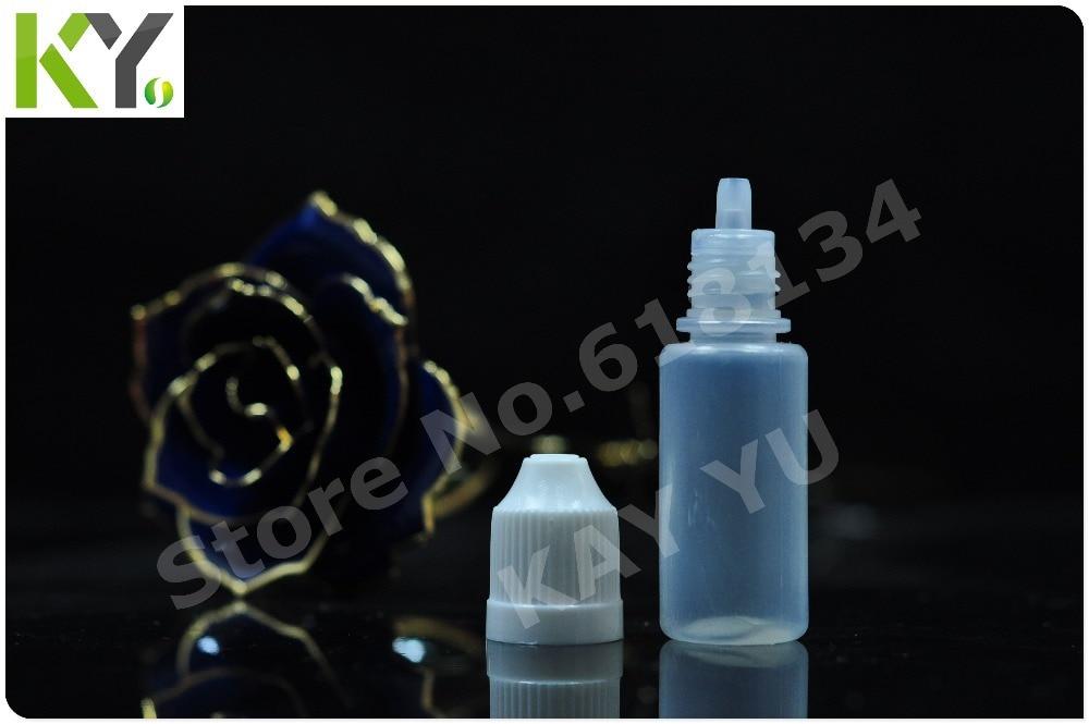 Wholesale free shipping 1000 pieces/ lot 10 ml PE clear eyedrop bottle,childproof bottle FEDEX E-cigarette