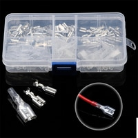 120pcs 2.8mm/4.8mm/6.3mm Female/Male Spade Terminals Connectors Crimp Terminals With Insulating Sleeve Set