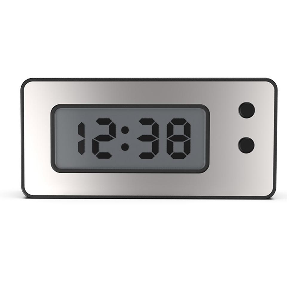 Reloj Digital salpicadero de coche reloj impermeable pantalla Digital LCD ultrafina con calendario automóvil motocicleta Universal