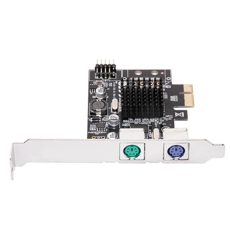 بطاقة محول PCIE إلى 2xPS2 PS/2 ، للوحة مفاتيح الكمبيوتر ، الماوس ، 100% جديد