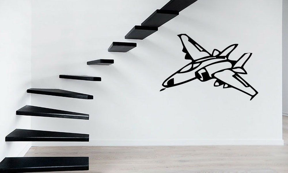 Calcomanía de vinilo para pared avión Jet Airforce Pilots Mural