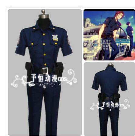 ¡Gratis! -¡Verano eterno gratis! Iwatobi Club de natación Rin Matsuoka Yamazaki sosuke disfraces de policía, uniformes Cosplay