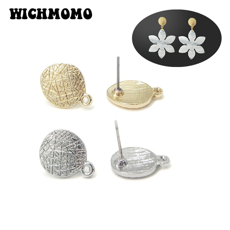 AliExpress - New Fashion 11*15mm 10pieces/bag Zinc Alloy Gold Round Earring Base Connectors Linkers for DIY Earring Jewelry Accessories