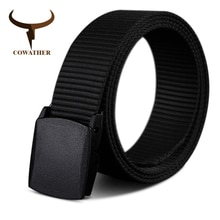 COWATHER 110 130 150 170 cm long grande taille nouveau nylon matériel hommes ceinture militaire en plein air mâle jeans tactiques ceintures pour hommes de luxe