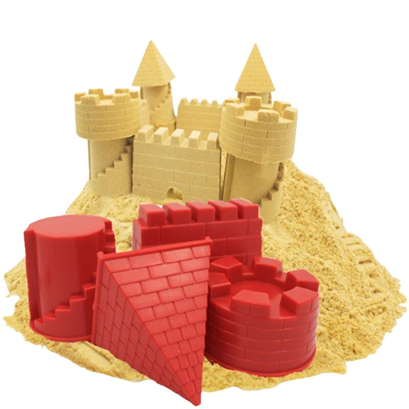 Hot Castle Model Play Sand Outdoor Toys for ChildrenSummer Seaside Beach toys Baby Soft Rubber Dune