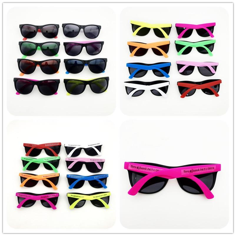 48 pairs/lot Customized Party Sunglasses Souvenirs Wholesale Unisex 80'S Retro Style Bulk Wedding Favors Travel Party Favor Lot