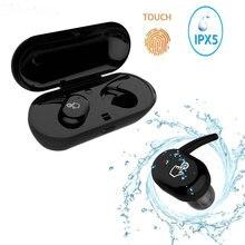 TWS ip010-x impermeable en la oreja auriculares Bluetooth inalámbricos para teléfono móvil auricular profesional estéreo graves caja de carga