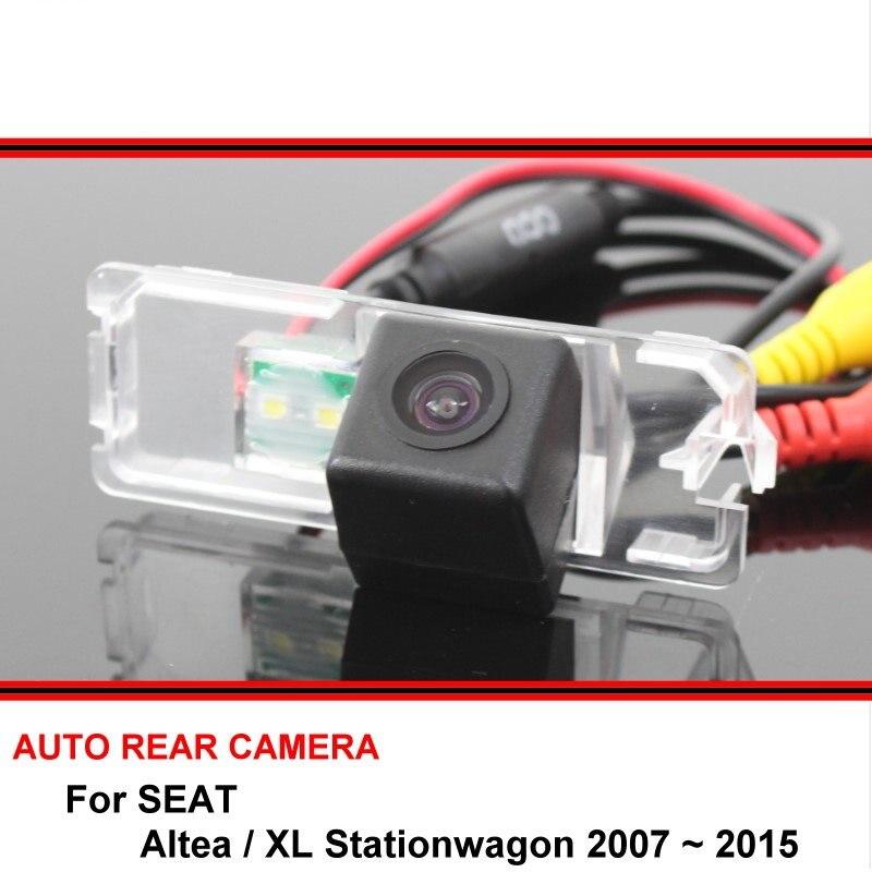 Para seat altea/xl stationwagon 2007 ~ 2015 visão noturna câmera de visão traseira invertendo câmera do carro back up câmera hd ccd