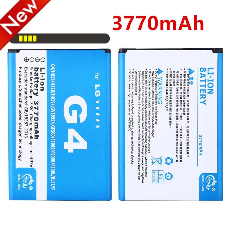 3770 мАч BL-51YF аккумулятор для мобильного телефона LG G4 аккумулятор H815 H818 H819 VS999 F500 F500S F500K F500L H811 V32 телефон BL 51YF BL51YF