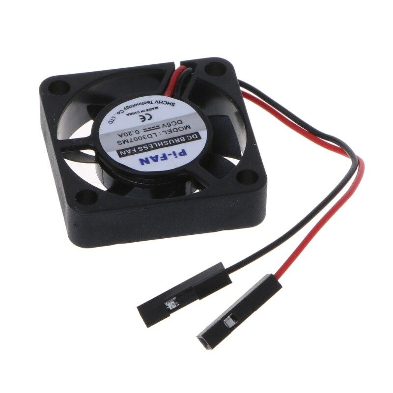 Mini disipador de calor del ventilador de refrigeración para Raspberry Pi 3/2/B + 3,3 V/5V, ordenador modelo, Drop Ship No28