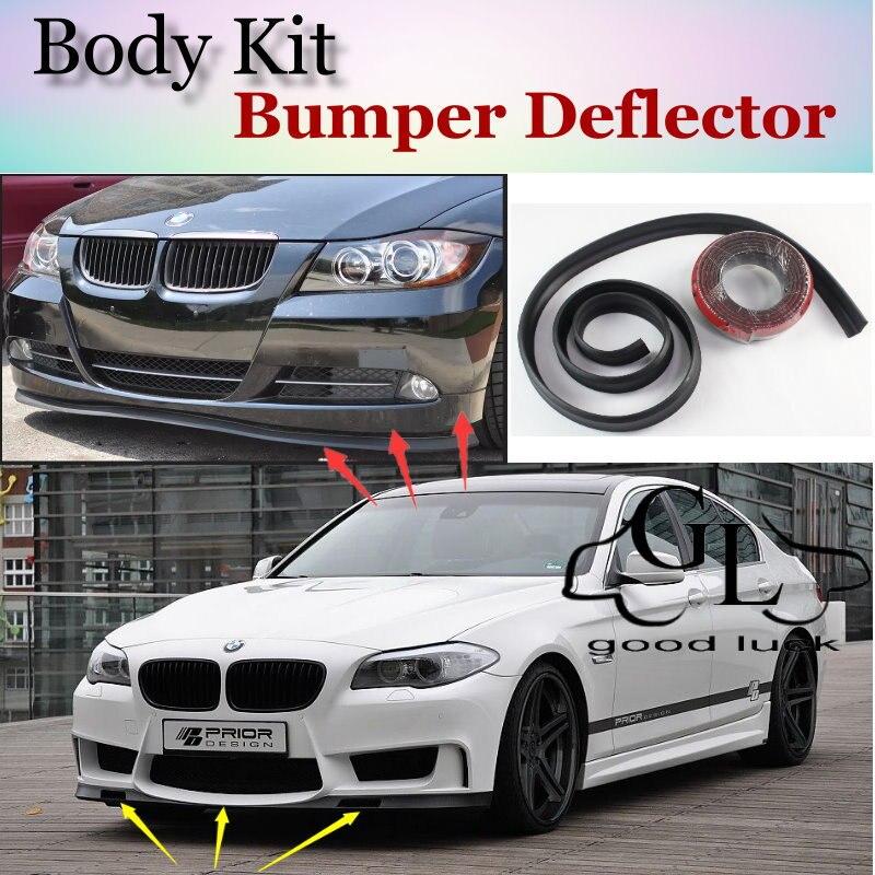 Para BMW 5 F10 F11 F07 M5 E28 E34 E39 E60 E61 1988 ~ 2015 Bumper Lip Spoiler Para O Ajuste Do Carro Defletor/TOPGEAR Saia Dianteira/Tira