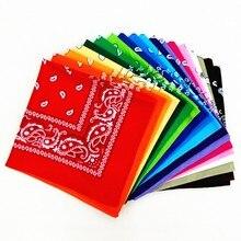 1 pc novo unisex bandana hip hop preto paisley headwear faixa de cabelo cachecol pescoço wrap banda lenço quadrado alta qualidade
