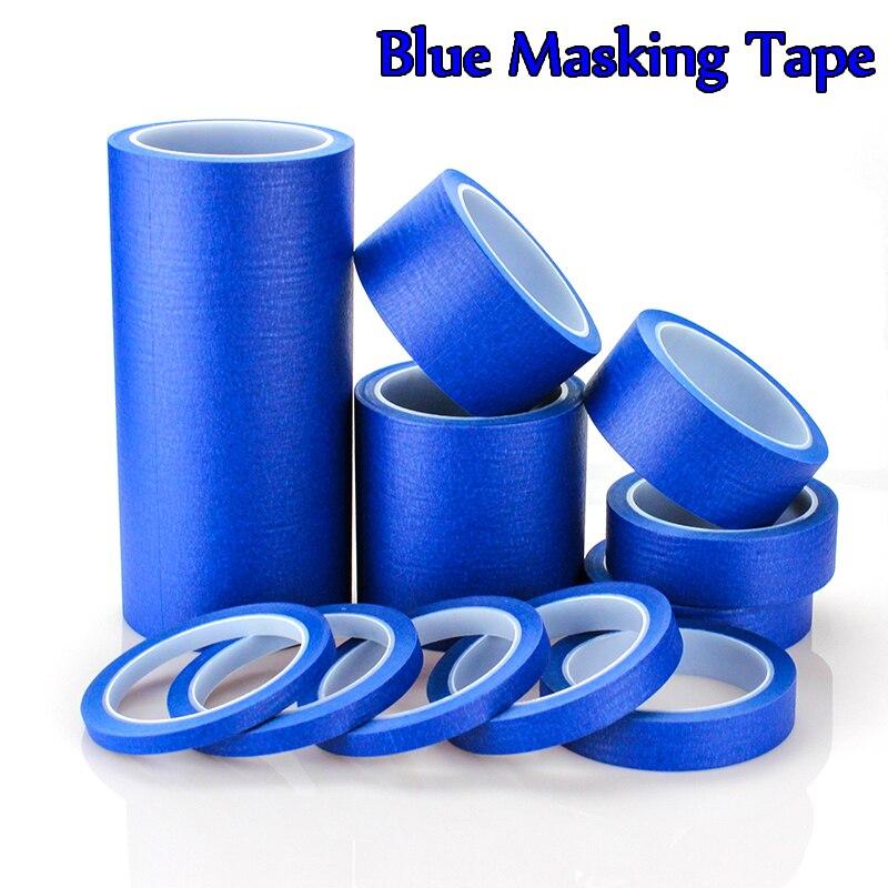 Cinta adhesiva azul de 25 metros de largo bueno para Pintura de coches cuadro decorativo de uñas de pintura de pared
