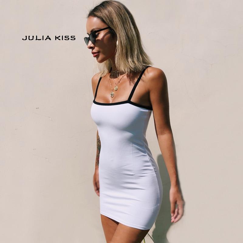 Women Contrast Bodycon Cami Mini Dress