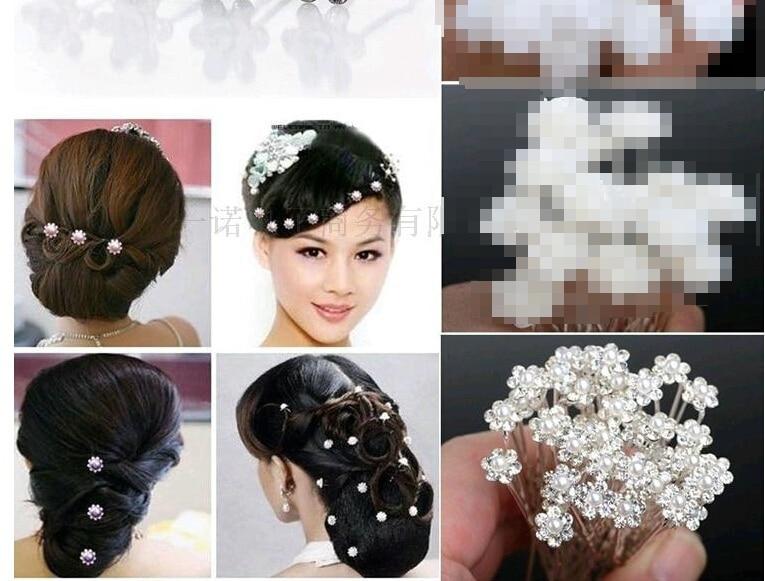 20sets 800PCS Wholesale Wedding Bridal Pearl Hair Pins Flower Crystal Hair Clips Bridesmaid Jewelry U Pick free shipping RL586