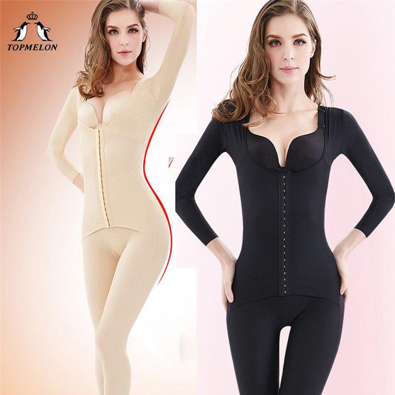 Topmelon corpo longo shaper aglutinantes e shapers emagrecimento shapewear comprimento total mais tamanho bodysuit para mulher S-3XL