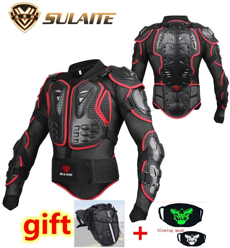 motorcycle armor jacket Motorcycle Body Armor Shirt Jacket Motocross Back Shoulder Protector Gear S-4XL Black Veste de moto