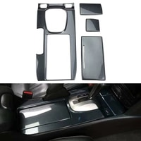 for honda accord 2008 2012 carbon fiber abs car console gear shift box cover panel trim