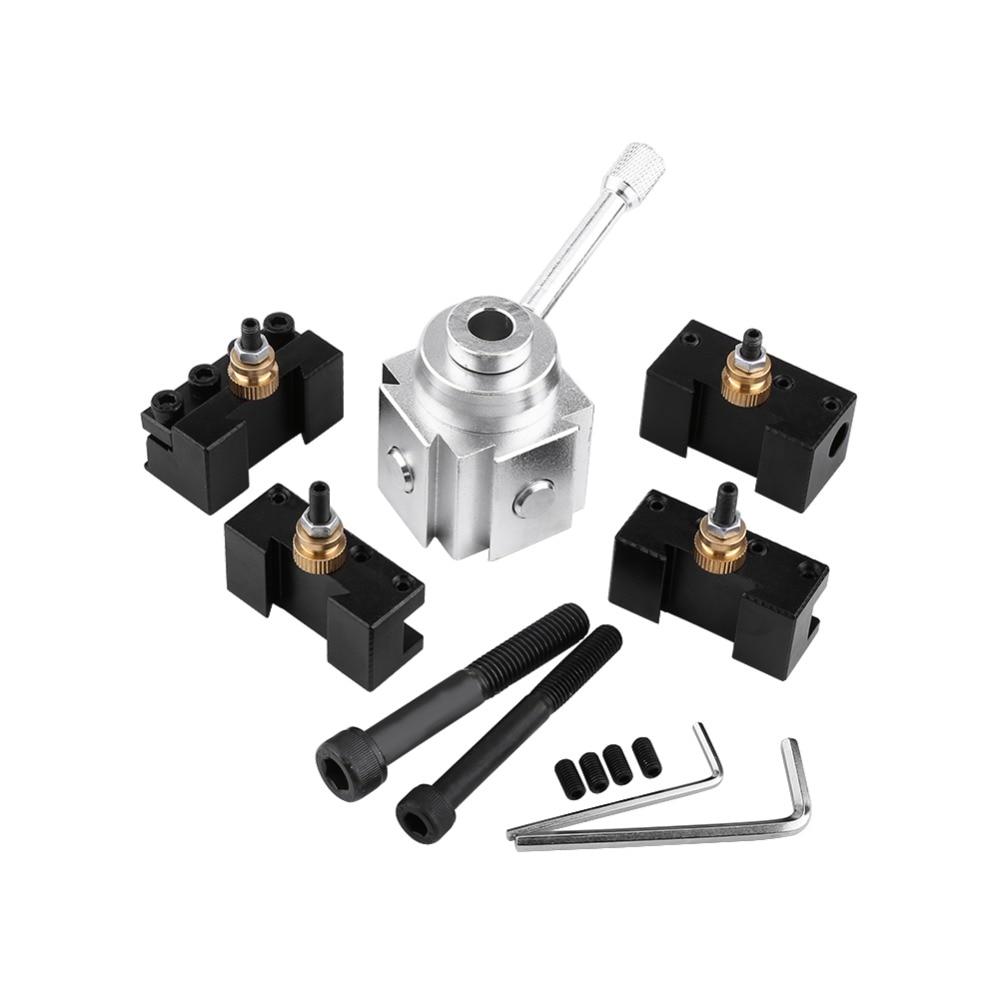 Juego de Mini herramienta de torno de cambio rápido de aleación de aluminio y Kit de accesorios de torno de soporte