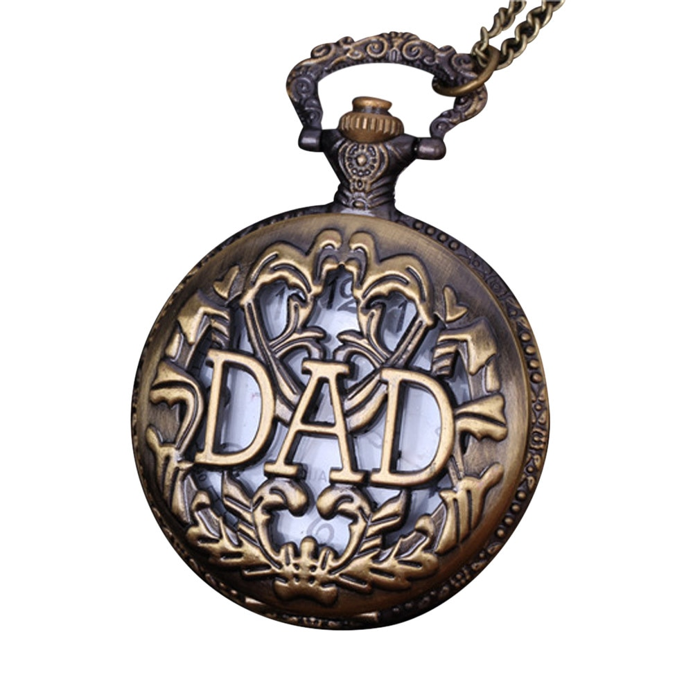 Cadena retro de bolsillo reloj papá cubierta Collar para el abuelo regalos para papá reloj de bolsillo zakhorloge Relgio de bolso enfermera relgio