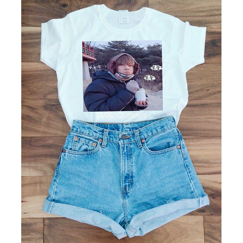 HAHAYULE-JBH 1 pcs BTS Kpop Summer Fashion Women t-shirt Korean Fashion 100% Cotton Casual T-Shirt Funny Short Sleeves