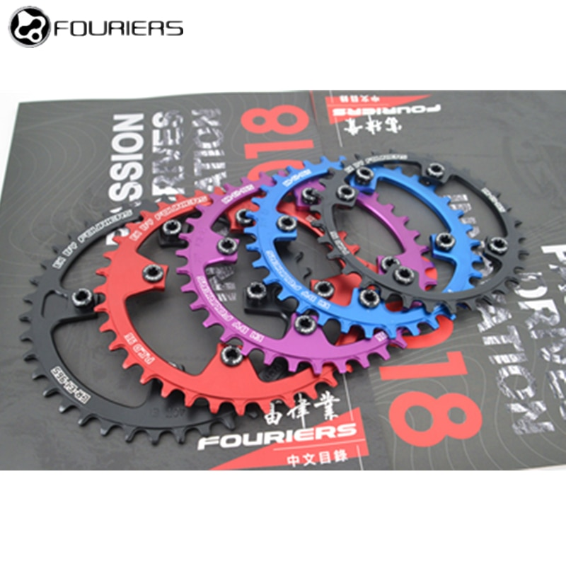 Fouriers 96BCD 32T34T36T38T40T MTB plato de bicicleta rueda dentada anillo de cadena de diente ancho estrecho bicicleta crankset Compatible M4050 M592