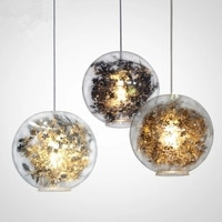 Artecnica Tangle Globe Led Pendant Light Lustre Glass Fish Tank Steel Flower Pendant Lamp Indoor Hanglamp Lampara Fixtures