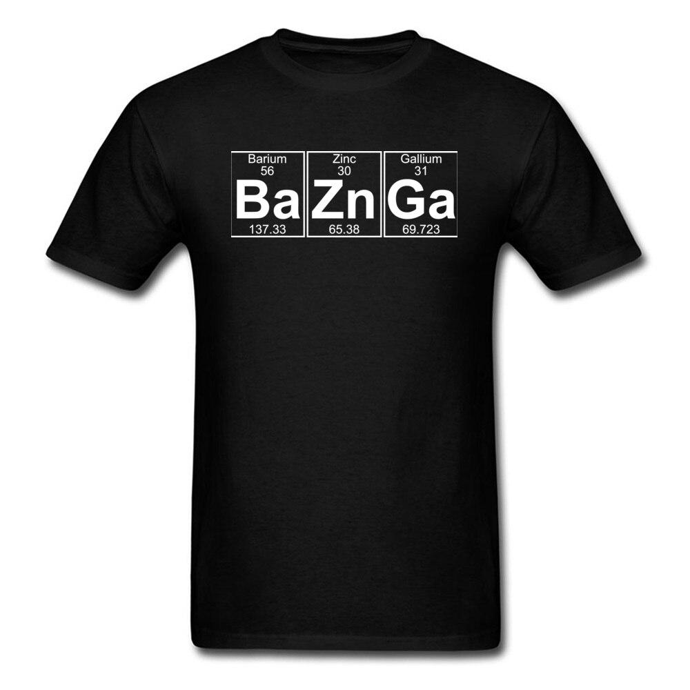 Camiseta The Big Bang Theory Ba Zn Ga Baznga Sheldon Cooper, camisetas con símbolo de elemento químico, camisetas para hombres de alta calidad
