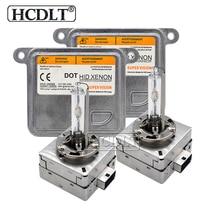 HCDLT 35 W زينون D1S D3S HID لمبة كيت زينون D3S D1S 55 W سيارة كابح إضاءة عدة 6000 K 4300 K 8000 K سيارة التصميم تغيير hid اللمبة