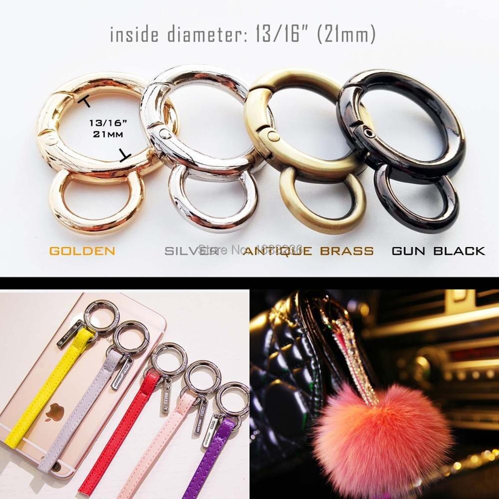 Spring Gate Double D O Ring Openable Pendant Clasp Handbag Purse Shoulder Belt Strap Buckle Clip Trigger Bag Accessories