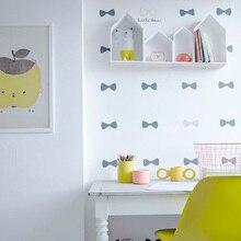 Маленькая Настенная Наклейка с бантом для детской комнаты, декоративные наклейки для детской комнаты, наклейки на стену для детской комнат...
