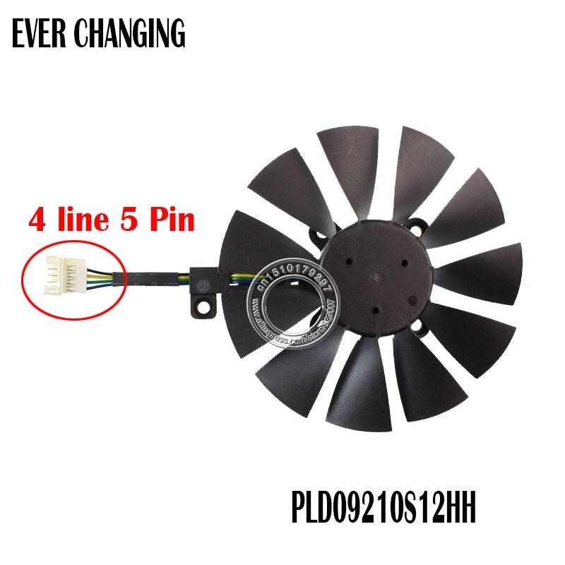 PLD09210S12HH 87MM ventilador para ASUS STRIX GTX 960, 970, 1050, 1070 RX...