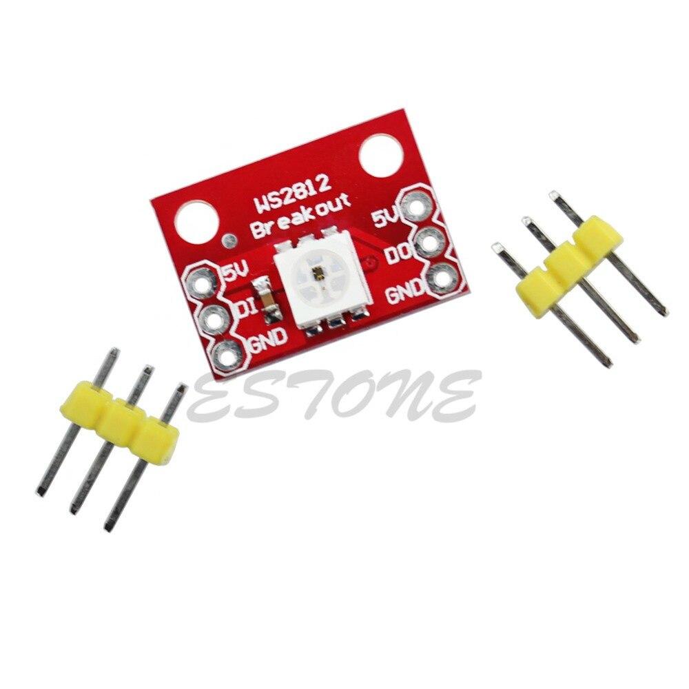 Nuevo 1/5/10 Uds Mini WS2812 placa RGB LED módulo de adaptación para Arduino profesional