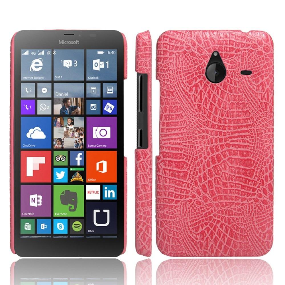 For Nokia Lumia 640 XL Case Cover Luxury Crocodile Pattern Leather Back Cover Hard PC Funda for Microsoft Nokia 640xl