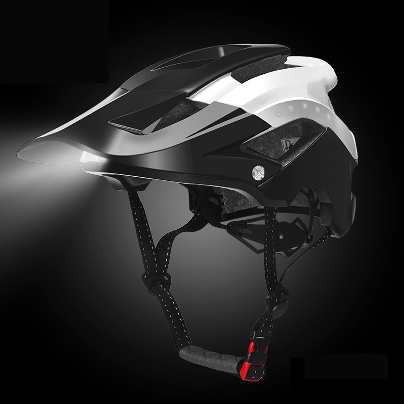 Велосипедные фары ROCKBROS, велосипедный шлем, интегрированный велосипедный светильник, шлем, Спортивная безопасность, MTB велосипедная Кепка, ш...