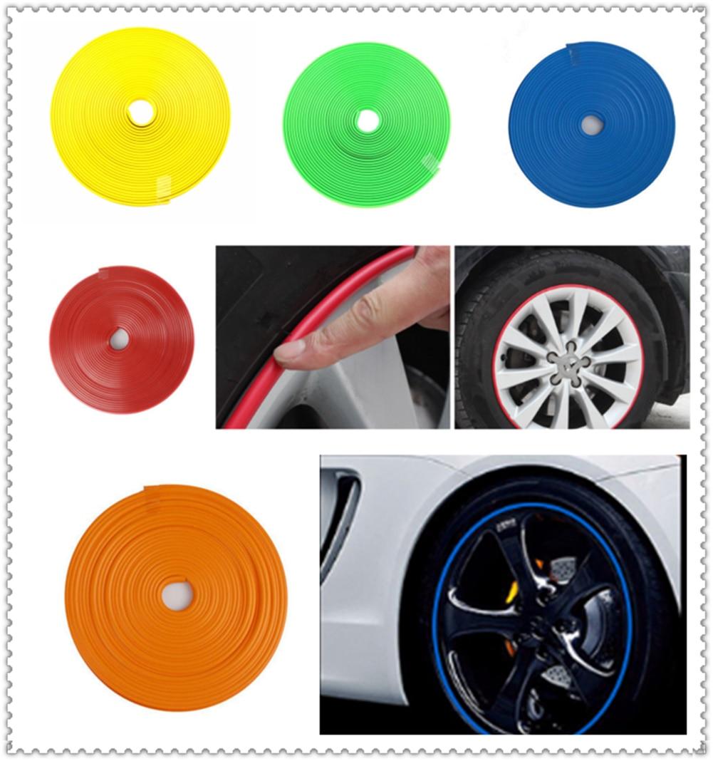 Goma de la línea de protección del neumático de la tira decorativa del borde de la personalidad de la forma del coche para Chevrolet WTCC Sequel Nubira Monte Kodiak Epica