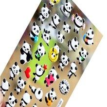 Autocollant adhésif 3D mignon bulle de panda dessin animé, papeterie décorative pour enfants, kawaii, décoration téléphone, 1pack/lot