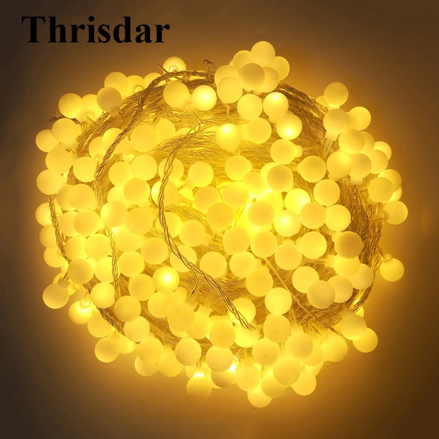 Thrisdar 100M 800LED Globe Ball Christmas LED String Fairy Light Outdoor Garden Patio Backyard Wedding Party Globe Fairy Light