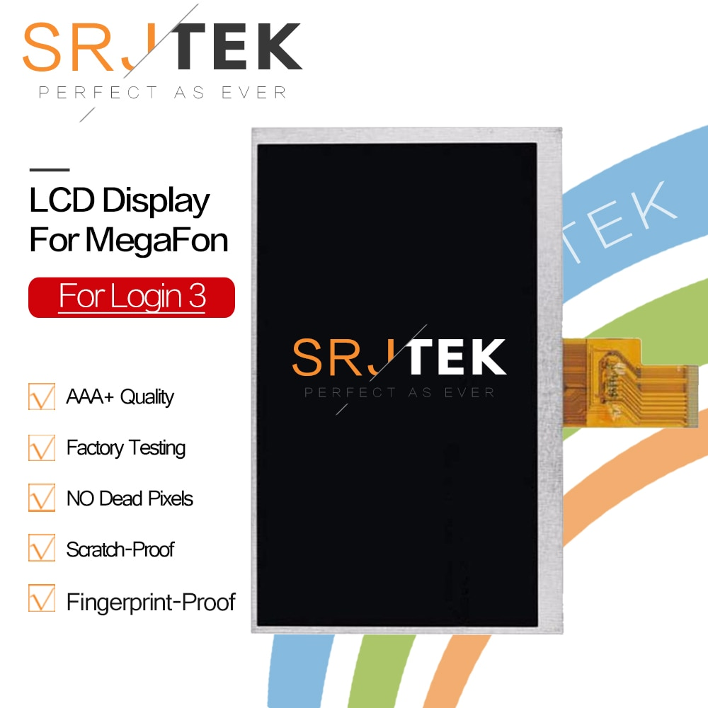 "Srjtek 7 ""nueva pantalla LCD para MegaFon Sesión 3 MFLogin3T Tablet 1024X600 LCD Panel de pantalla parte Replacrment de vidrio de Sensor"