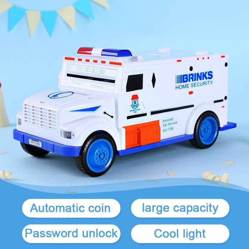 Safe Truck Digital Piggy Bank Kids Toy Money Box Saving Deposit Boxes Electronic Tirelire Enfant Children Cash Car Coin