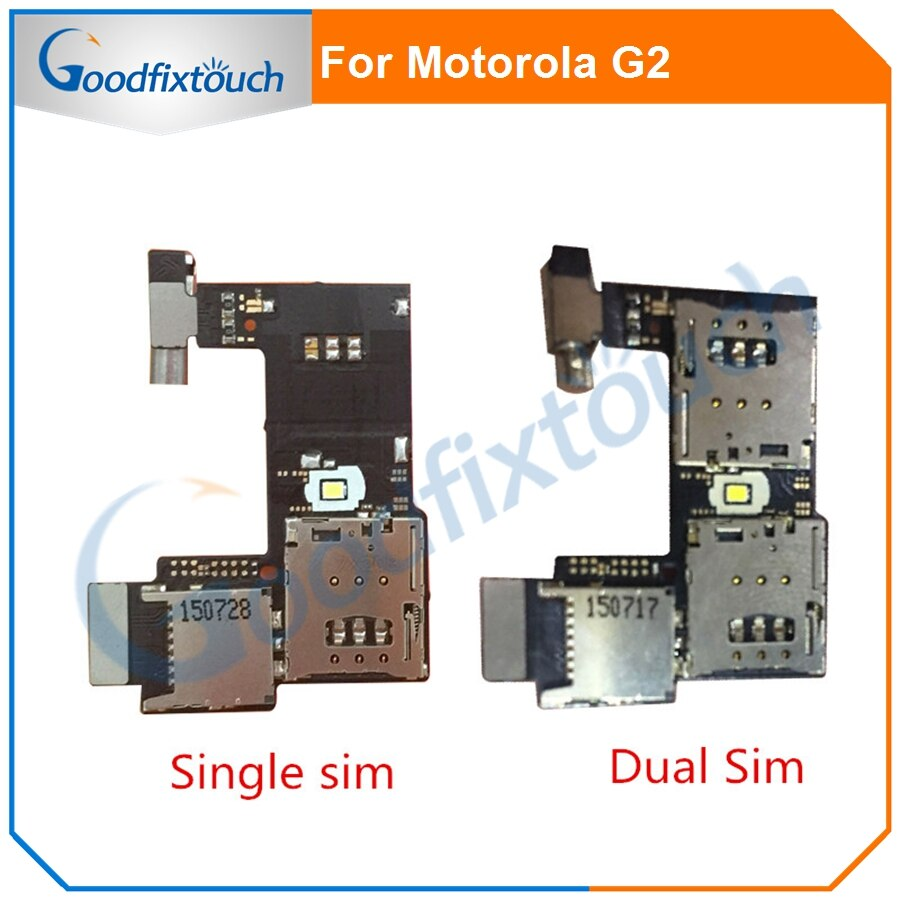 Para Motorola Moto G2 XT1068 XT1069 G 2nd tarjeta SIM + memoria Micro SD ranura de la bandeja de lector de Cable de la flexión junta