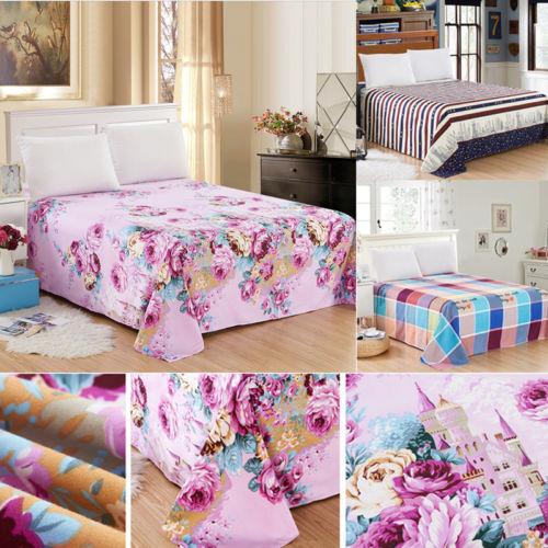UK pełne dopasowane prześcieradło prześcieradła 100% bawełniano-poliestrowy 4 rozmiary nowe kolorowe prześcieradła Flora nowość