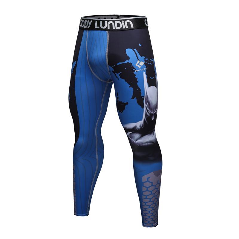 2017The codylundin nueva moda para hombre Pantalones de compresión impresión 3D secado rápido Skinny Bodi Leggings Fitness MMA Pantalones