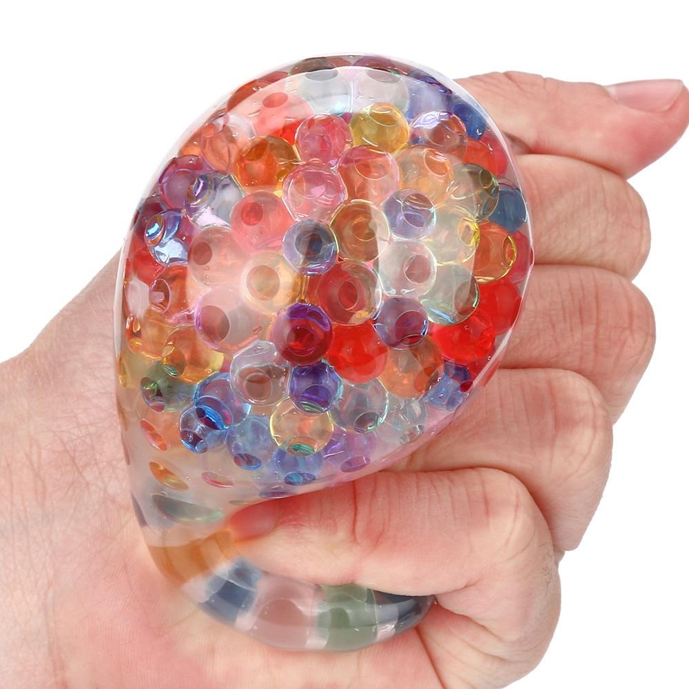 Bola de arco iris juguete esponjoso juguete exprimible estrés Squishy juguete Bola de alivio de tensión para toallitas divertidas juguetes antiestrés para niños A1
